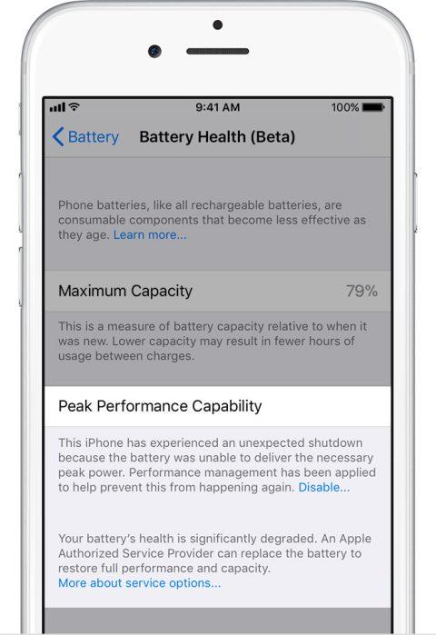 Este es el nuevo monitor de energía en los iPhone, que llega con la segunda beta de iOS 11.3 - battery-really-damaged