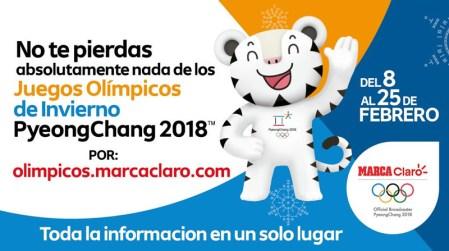 Inauguración de las Olimpiadas de Invierno 2018 por internet este 9 de febrero