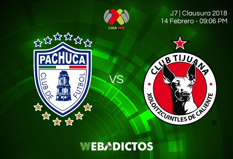 Pachuca vs Tijuana: horario y transmisión en la J7 del Clausura 2018 - pachuca-vs-tijuana-clausura-2018-j7
