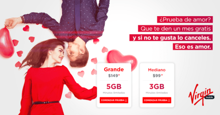 Este 14 de Febrero Virgin Mobile lanza nuevo plan ¡pruébalo gratis!