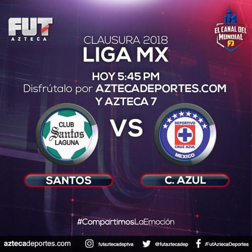 Transmisión de Santos vs Cruz Azul en la J9 Clausura 2018 - santos-vs-cruz-azul-azteca-deportes-j9-c2018