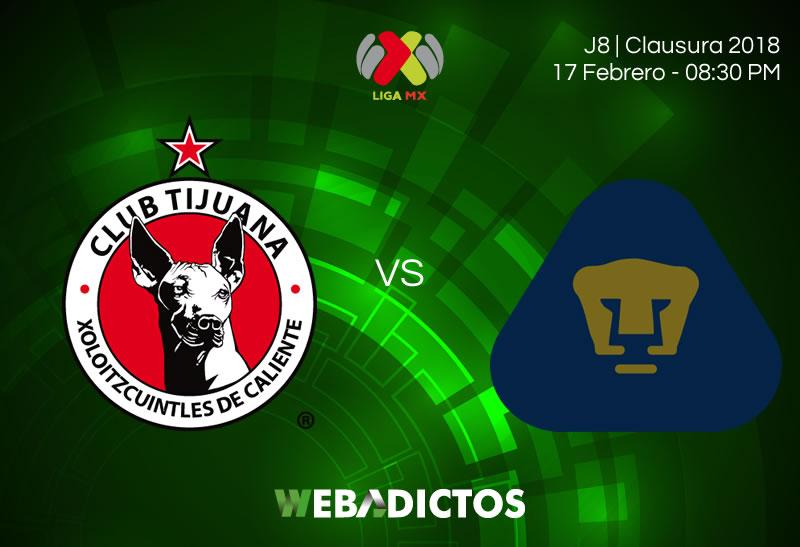 Tijuana vs Pumas, Jornada 8 del Clausura 2018 ¡En vivo por internet! - xolos-tijuana-vs-pumas-clausura-2018-j8