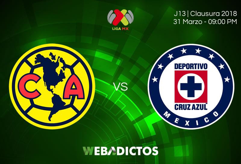 america vs cruz azul clausura 2018 jornada 13 América vs Cruz Azul, Clásico Joven 2018 ¡En vivo por internet! | Jornada 13 C2018