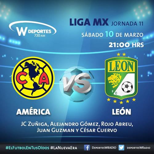 america vs leon por radio clausura 2018 América vs León, Jornada 11 del Clausura 2018 ¡En vivo por internet!