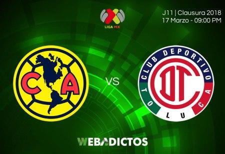 América vs Toluca: Hora y transmisión online en la Jornada 12 C2018