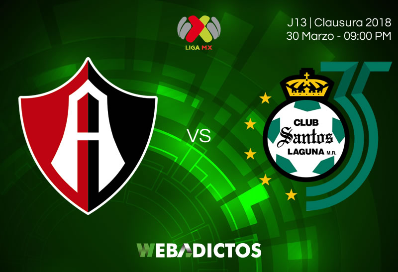 Atlas vs Santos, Jornada 13 de la Liga MX C2018 ¡En vivo por internet! - atlas-vs-santos-clausura-2018-jornada-13