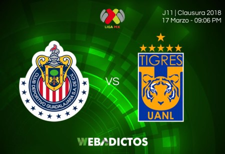 Chivas vs Tigres: Cómo ver el partido este 17 de marzo; J12 C2018
