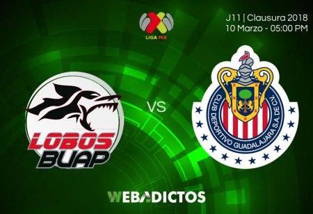 Lobos BUAP vs Chivas, J11 del Clausura 2018 ¡Por internet!