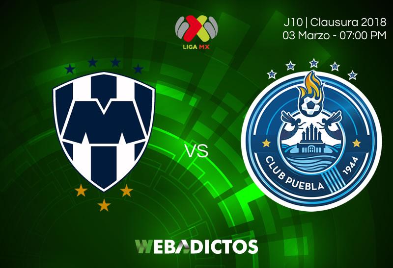Monterrey vs Puebla, Jornada 10 C2018 ¡En vivo por internet! - monterrey-vs-puebla-clausura-2018-j10