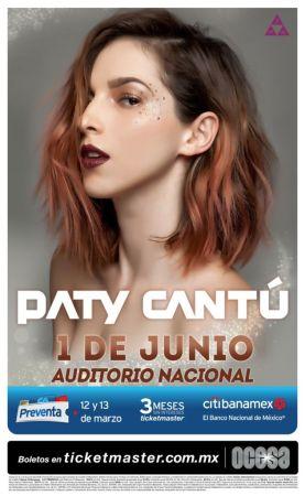 Paty Cantú en el Auditorio Nacional el 1 de Junio