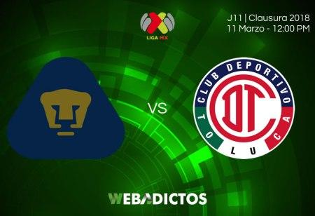 Pumas vs Toluca, Jornada 11 del Clausura 2018 ¡En vivo por internet!