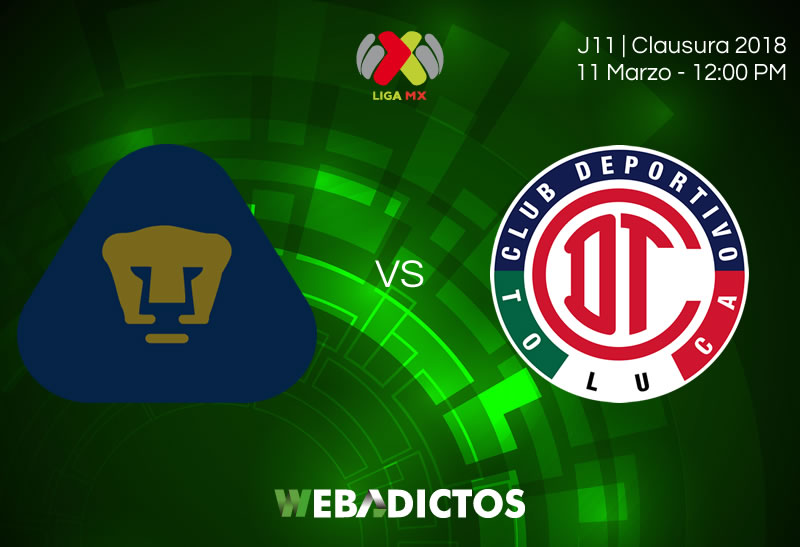 Pumas vs Toluca, Jornada 11 del Clausura 2018 ¡En vivo por internet! - pumas-vs-toluca-clausura-2018-j11