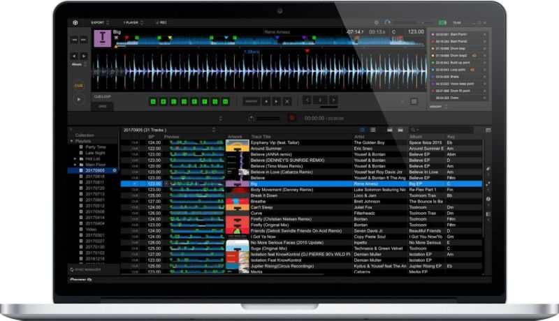 Pioneer DJ galardonado en los iF Design Awards 2018 - rekordbox-5-macbook-pro-800x460