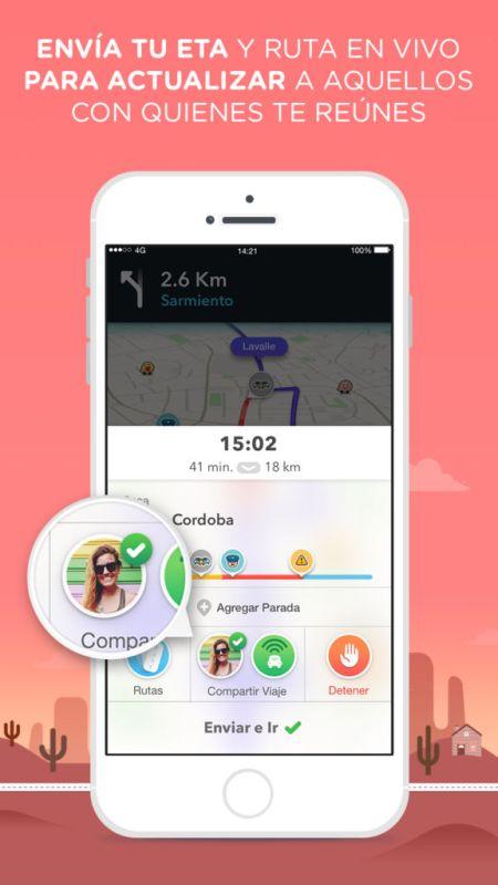 Waze te da las mejores recomendaciones para disfruta tus vacaciones de Semana Santa - waze-eta-sharing-screen_espanol-450x800