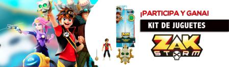 [TRIVIA] Participa para ganar un kit de la nueva línea de juguetes de Zak Storm