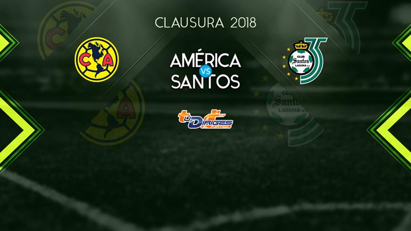 América vs Santos, J17 del Clausura 2018 ¡En vivo por internet! - america-vs-santos-j17-clausura-2018