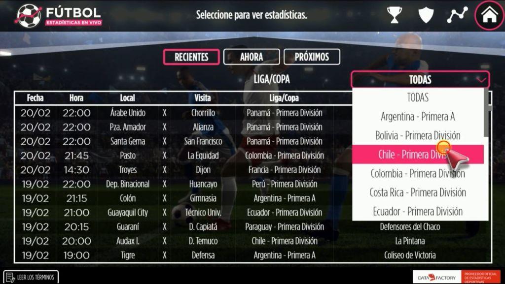 LG presenta nueva aplicación: Fútbol estadísticas en vivo - aplicacion-exclusiva-futbol-estadisticas-en-vivo