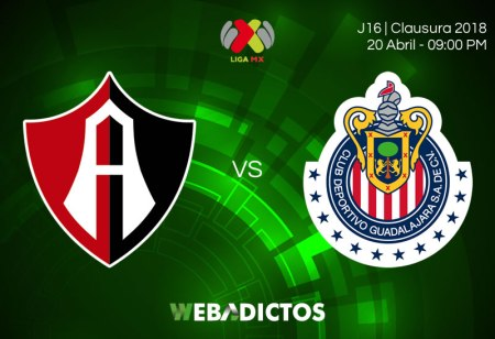Atlas vs Chivas, Clásico tapatío en J16 del C2018 ¡En vivo por internet!