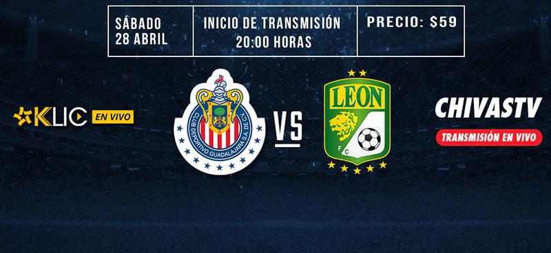 Chivas vs León, Jornada 17 Clausura 2018 ¡En vivo por internet! - chivas-vs-leon-chivas-tv-cinepolis-klic