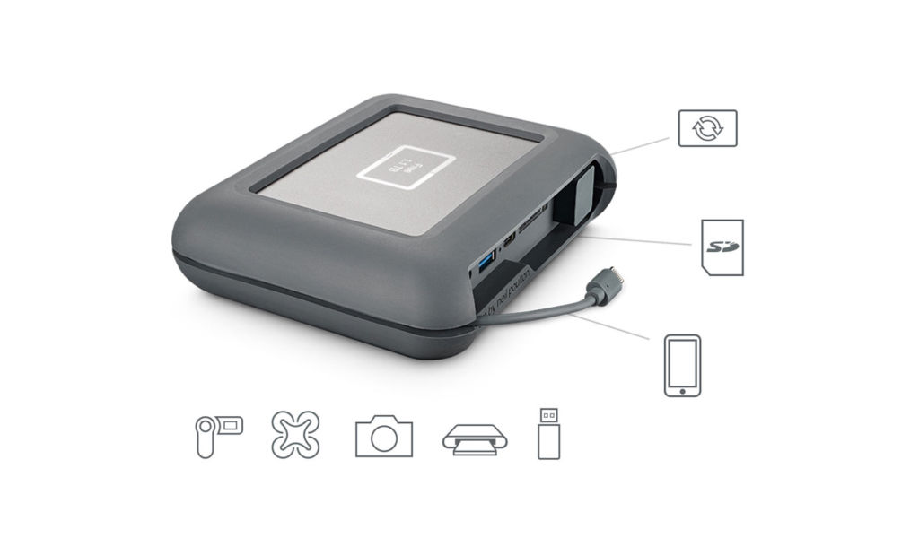 lacie dji copilot Seagate presenta disco duro de 2TB para los expertos en el uso de drones