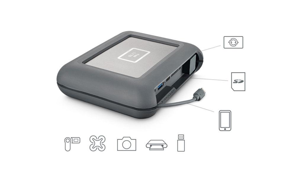 Seagate presenta disco duro de 2TB para los expertos en el uso de drones - lacie-dji-copilot