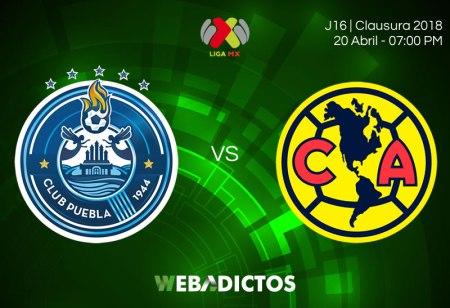 Puebla vs América, Jornada 16 del Clausura 2018 ¡En vivo por internet!