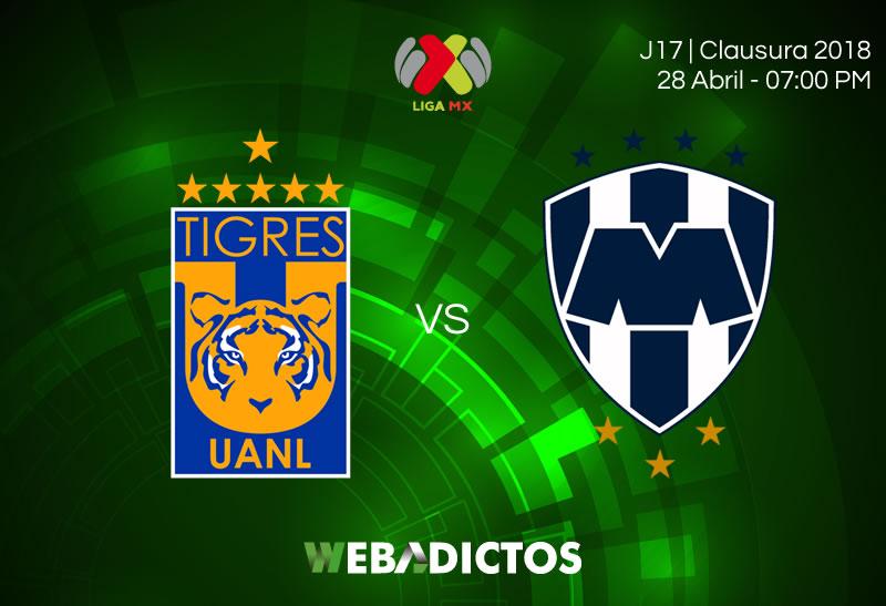 Tigres vs Monterrey, Clásico regio en J17 del Clausura 2018 ¡En vivo por internet! - tigres-vs-monterrey-clausura-2018
