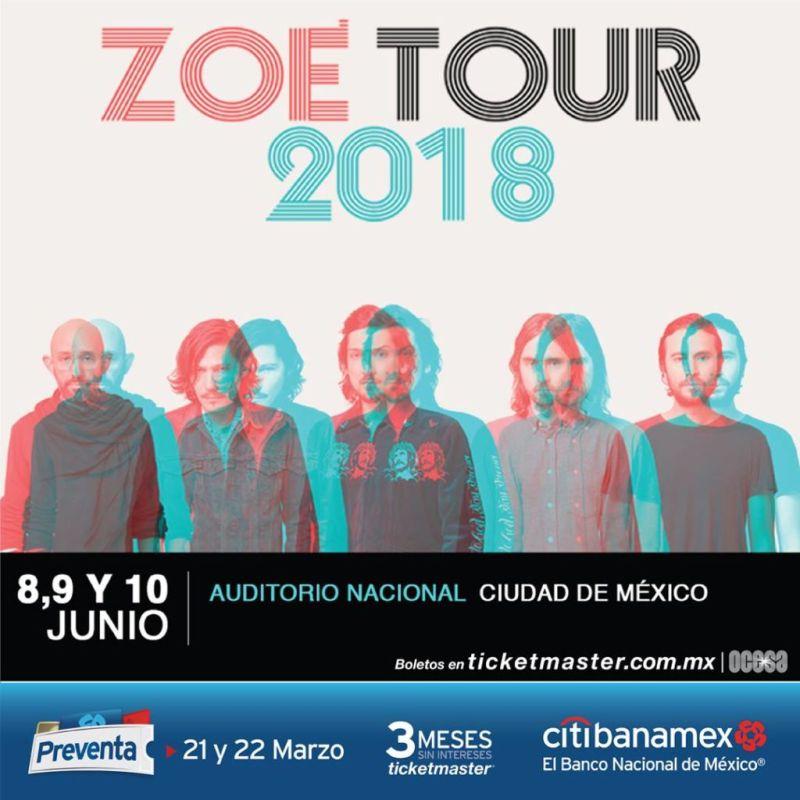 zoe cdmx 800x800 Zoé Tour 2018 en el auditorio Nacional ¡8, 9 y 10 de junio!