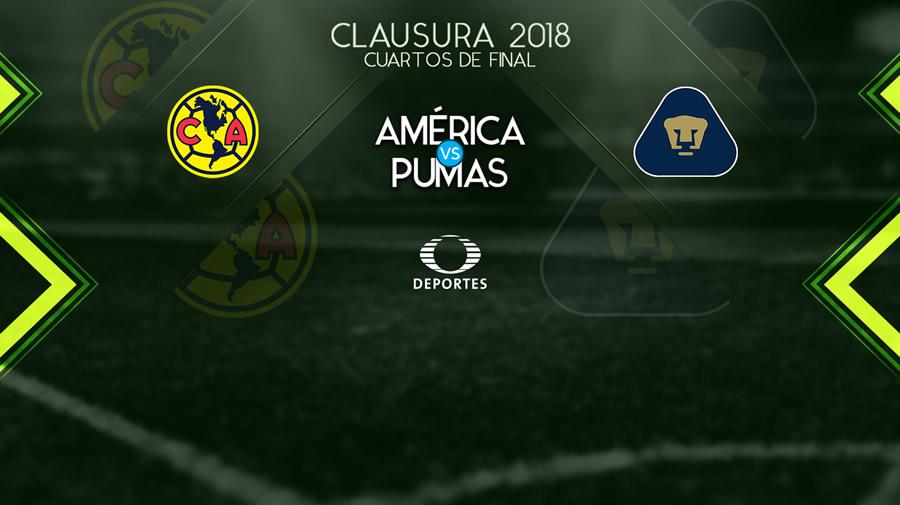 América vs Pumas, vuelta de la liguilla C2018 ¡En vivo por internet! - america-vs-pumas-internet-5-de-mayo