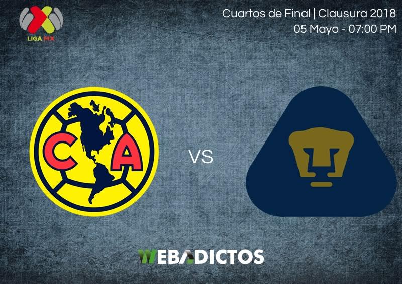 América vs Pumas, vuelta de la liguilla C2018 ¡En vivo por internet! - america-vs-pumas-vuelta-liguilla-clausura-2018
