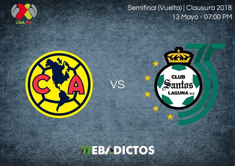 América vs Santos, Semifinal del Clausura 2018 ¡En vivo por internet! - america-vs-santos-semifinal-clausura-2018