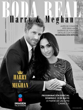 Transmisión especial de la Boda real del Príncipe Harry con Meghan por Imagen Televisión