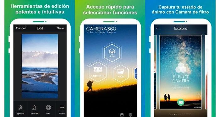 Apps gratuitas para tomar fotos profesionales en Android - camera360