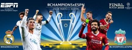 Final de Champions 2018: Real Madrid vs Liverpool por ESPN