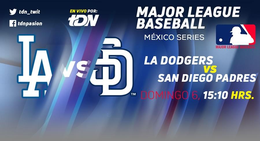 Dodgers vs San Diego del 4 al 6 de mayo en Monterrey ¡En vivo por internet! - los-angeles-vs-san-diego-mexico-series-2018