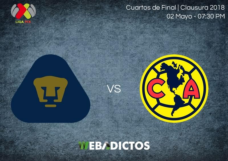 Pumas vs América, ida de la liguilla C2018 ¡En vivo por internet! - pumas-vs-america-ida-liguilla-clausura-2018