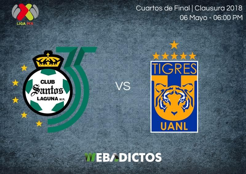 Santos vs Tigres, Liguilla del Clausura 2018 ¡En vivo! | vuelta - santos-vs-tigres-vuelta-liguilla-clausura-2018