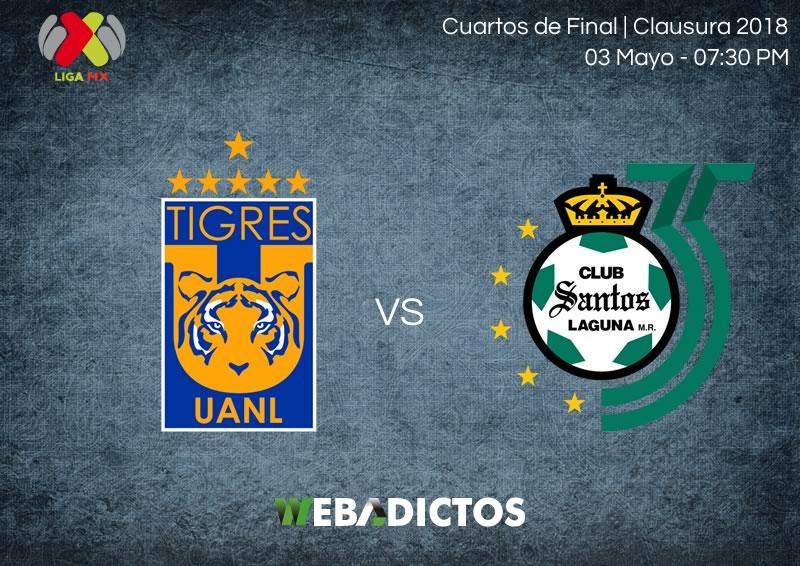 Tigres vs Santos, Liguilla del Clausura 2018 ¡En vivo por internet! - tigres-vs-santos-ida-liguilla-clausura-2018