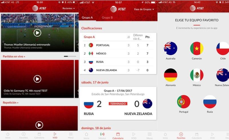 AT&T FIFA World Cup: Partidos del mundial en vivo en tu celular ¡gratis! - app-att-world-cup-partidos-en-vivo