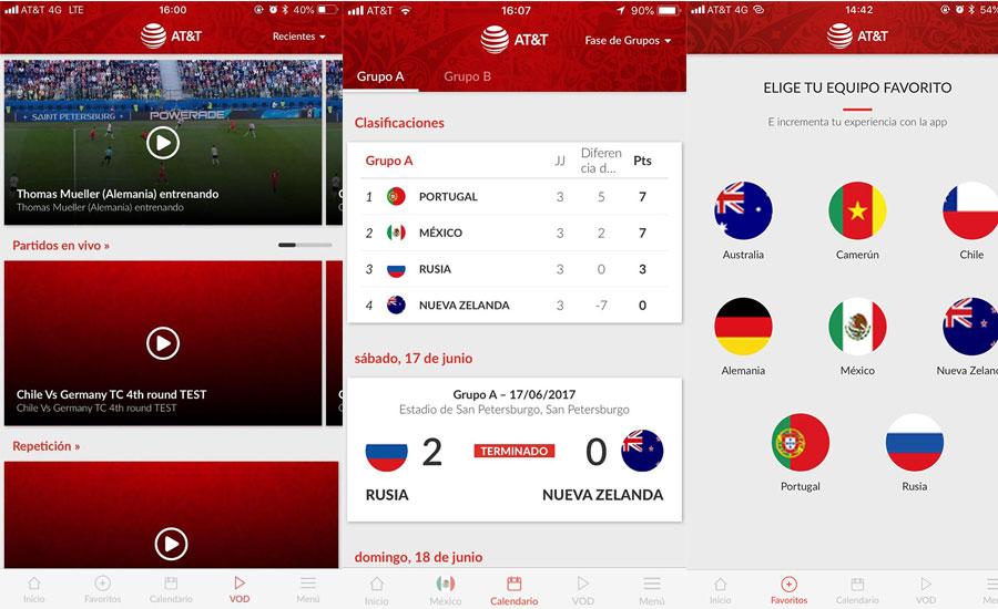 Cómo ver el mundial Rusia 2018 en vivo por internet - app-att-world-cup-partidos-en-vivo