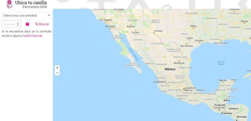 ¿Cómo encontrar tu casilla para votar estas elección en México? (2018) - casillaine-800x385