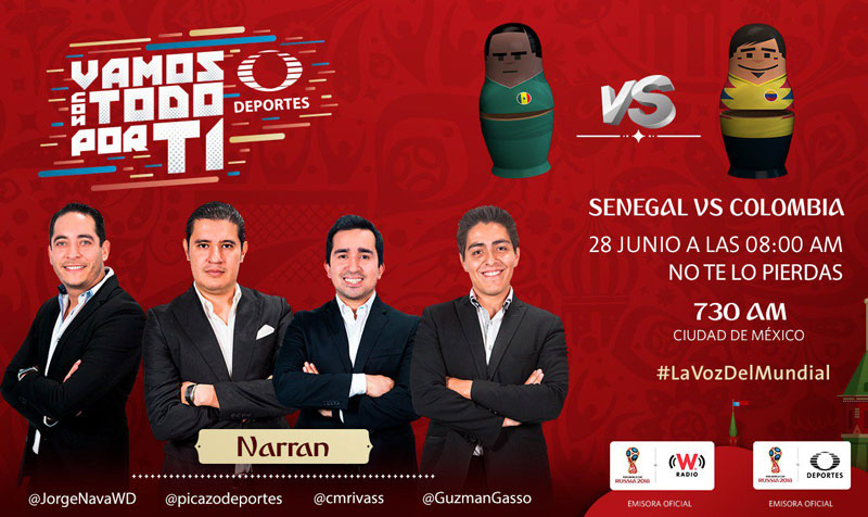 Senegal vs Colombia, Mundial Rusia 2018 ¡En vivo por internet! - colombia-vs-senegal-por-radio-mundial-2018