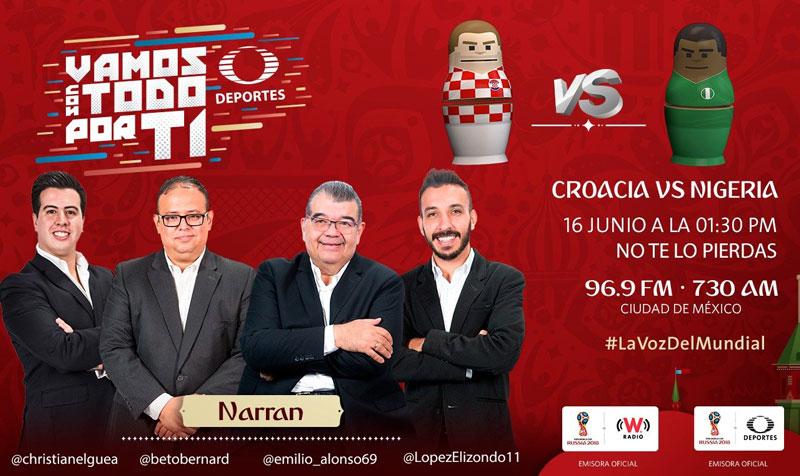 Croacia vs Nigeria en el Mundial 2018 ¡En vivo por internet! | Grupo D - croacia-vs-nigeria-por-radio-mundial-2018
