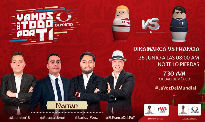 Dinamarca vs Francia, Mundial 2018 ¡En vivo por internet! - dinamarca-vs-francia-por-radio