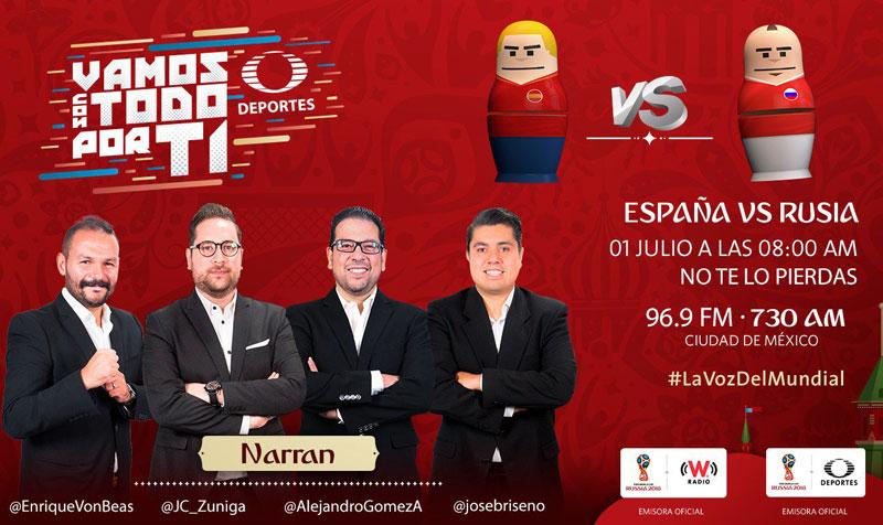 España vs Rusia, Octavos del Mundial 2018 ¡En vivo por internet! - espana-vs-rusia-por-radio-mundial-2018