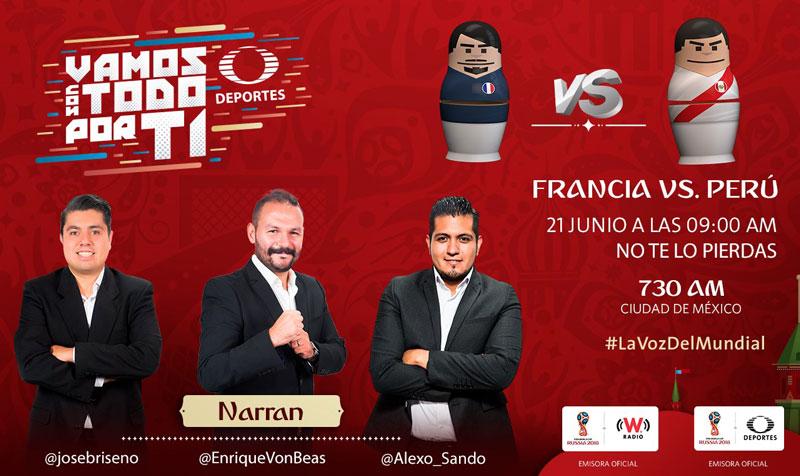 Francia vs Perú, Grupo C del Mundial 2018 ¡En vivo por internet! - francia-vs-peru-por-radio-mundial-2018