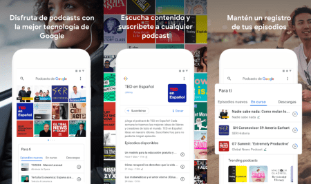 Google lanza su aplicación de podcasts en Android