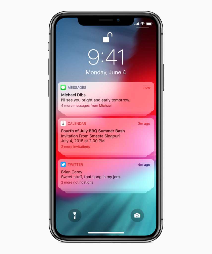Con iOS 12, Apple promete acelerar la velocidad de sus dispositivos móviles - ios12_group-notifications_06042018