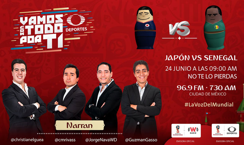 Japón vs Senegal, Grupo H del Mundial 2018 ¡En vivo por internet! - japon-vs-senegal-por-radio