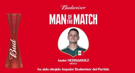 Javier Hernández fue elegido como el mejor jugador del partido México vs Corea
